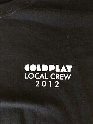 Coldplay Local Crew 2012 ROCK TSHIRT • 11.81£