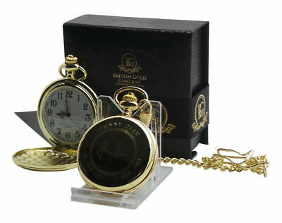 JOHNNY CASH Signed Autographed 24K GOLD Clad Pocket Watch And Chain Gift Case • 32.99£