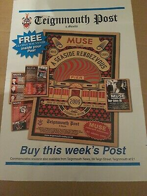 Muse - A Seaside Rendezvous - Sept 2009 Teignmouth - A3 Poster  • 35£