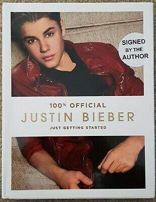 Justin Bieber : Just Getting Started Signed Book.  Full Signature Rare • 90£