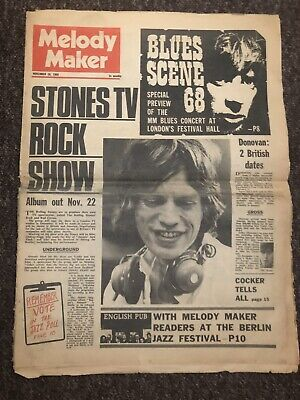 Rolling Stones Rock And Roll Circus Melody Maker 1968  • 6.50£