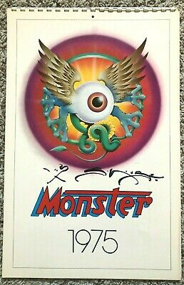 Stanley Mouse Autographed  Monsters  Calendar, 1975 • 58.53£