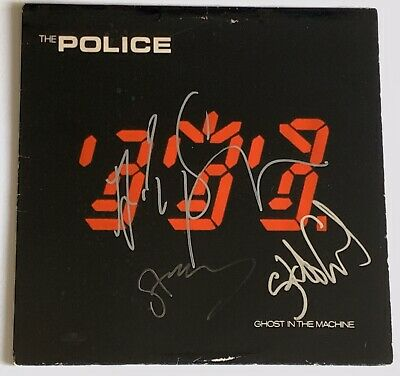 The Police Signed Album Ghost In The Machine Sting Summers Copeland Group Auto • 648.22£