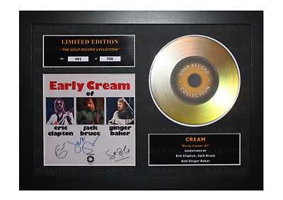 Cream Signed Gold Disc Album Ltd Edition Framed Picture Memorabilia • 19.99£