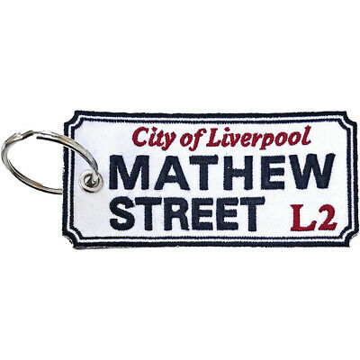 Double-sided Embroidered Patch KEYRING Liverpool Road Sign MATTHEW STREET • 8.99£