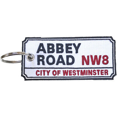 Double-sided Embroidered Patch KEYRING London Road Sign ABBEY ROAD • 8.99£