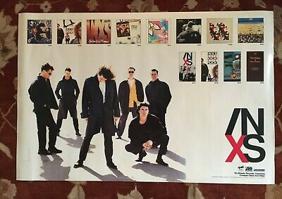INXS  On ATLANTIC Records  Rare Original Promotional Poster  MICHAEL HUTCHENCE • 17.87£