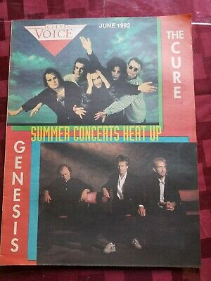 The Cure/ Genesis Cover City Voice Magazine 92 • 15.85£