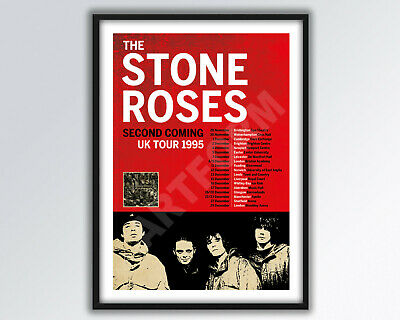STONE ROSES Second Coming REIMAGINED Tour Poster A3 Size. • 14£