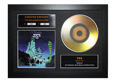 Yes Signed Gold Disc Album Ltd Edition Framed Picture Memorabilia • 14.99£