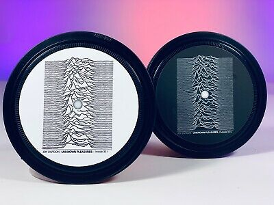 Joy Division - 2 Vinyl Record Label Coasters. Unknown Pleasures. Love Will Tear • 6£