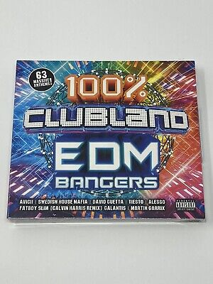 100% Clubland Edm Bangers - Various Artists - 3 Cd Box Set Album - New & Sealed • 3.49£