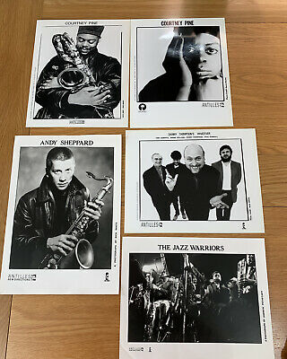 Courtney Pine, Andy Sheppard, The Jazz Warriors - 5 X Antilles Promo Photos • 25£