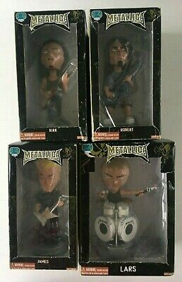 Metallica JAMES LARS  ROBERT KIRK Bobble Head Stevenson Entertainment FREE SHIP • 243.90£