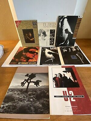 LOT Of 8 U2 Books Rattle And Hum Joshua Tree The Early Years Stories For Boys • 29.45£