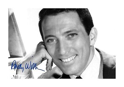 Andy Williams A4 Reproduction Signed Photograph Poster With Choice Of Frame • 32.95£