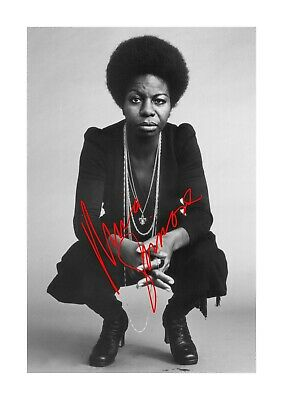 Nina Simone 2 A4 Reproduction Signed Photograph Picture Poster Choice Of Frame • 5.99£