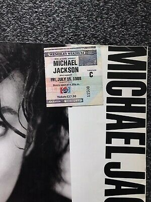 Michael Jackson Bad Concert Tickets Wembley 15th July 1988 X2 And Programme • 40£