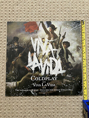 Coldplay Viva La Vida Original 2008 Album Release Poster Square Advert • 22£