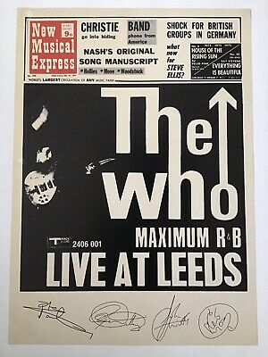 The Who Live At Leeds Limited Edition Print • 45£