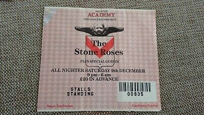The Stone Roses 9th December 1995 Brixton Academy London Concert TicketVGC • 40£