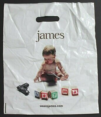 JAMES Hey Ma PROMOTIONAL PLASTIC BAG - LP Record Size - Tim Booth • 4.53£