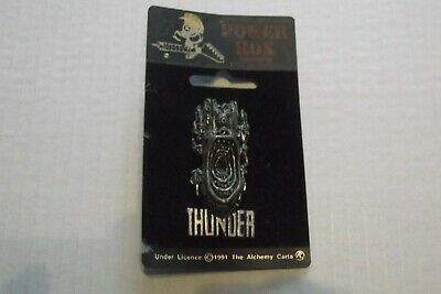 Thunder - Poker Rox Metal Pin Badge 1991 • 2.20£