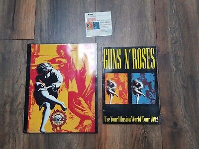 GUNS N' ROSES Use Your Illusion: Photobook 1991+Brochure With Ticket Stub 1992  • 42£
