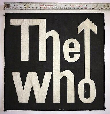 The Who Vintage Sew On Patch From The 1960's Or 1970's? MODS • 9.99£