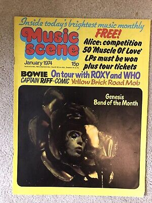 Music Scene Magazine 1974 Genesis Bowie Quo Elton Who Wings Roxy Music • 4.95£