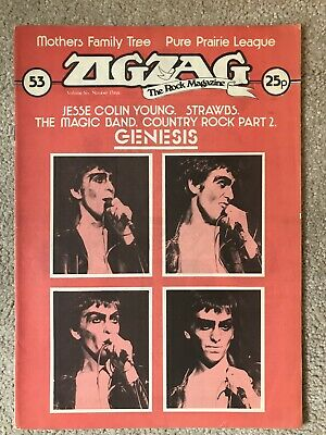 Zigzag Magazine No.53 1974 Genesis Cover (Mothers Of Invention/Strawbs)  • 6£