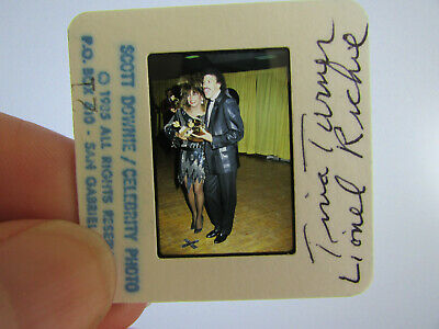 Original Press Photo Slide Negative - Lionel Richie & Tina Turner - 1985 - A • 25.99£