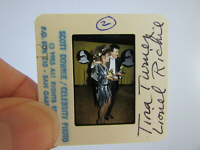 Original Press Photo Slide Negative - Lionel Richie & Tina Turner - 1985 - C • 25.99£