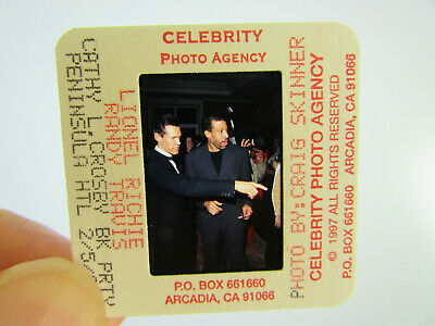 Original Press Photo Slide Negative - Lionel Richie & Randy Travis - 1997 • 25.99£
