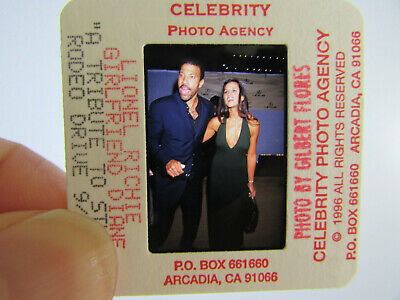 Original Press Photo Slide Negative - Lionel Richie & Diane Alexander - 1996 - B • 25.99£