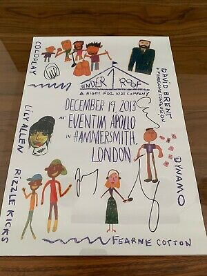 Coldplay  Under 1 Roof  Poster Signed • 50£