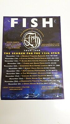 Fish - The Search For The 13th Star Tour Flyer • 0.99£
