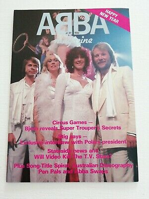 ABBA OFFICIAL MAGAZINE No 31 Mint • 4.99£