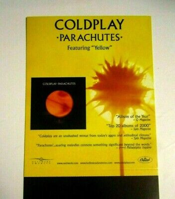 Coldplay 2000 Parachutes Original Record Store Display Counter Stand Up  • 7.97£