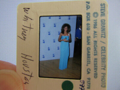 Original Press Photo Slide Negative - Whitney Houston - 1986 - D • 21.99£