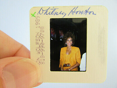Original Press Photo Slide Negative - Whitney Houston - 1989 - F • 21.99£