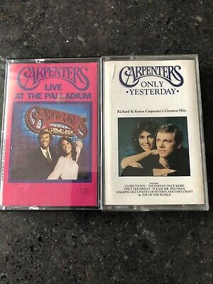 Carpenters 2 Cassette Tapes. Only Yesterday & Live At The Palladium. • 1£