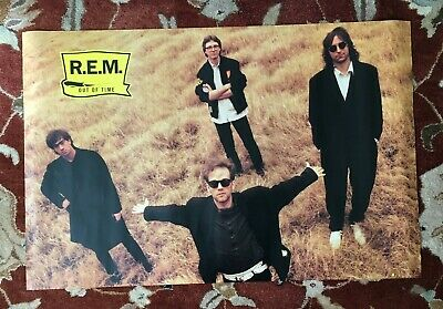 R.E.M.  Out Of Time  Rare Original Promotional Poster From 1991  REM • 7.71£