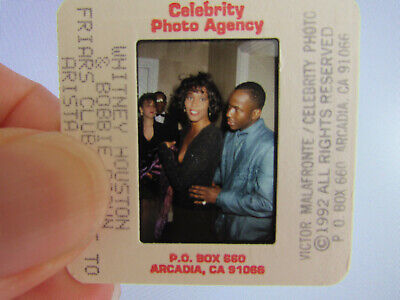 Original Press Photo Slide Negative - Whitney Houston & Bobby Brown - 1992 - B • 21.99£
