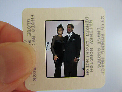 Original Press Photo Slide Negative - Whitney Houston & Denzel Washington - A • 21.99£