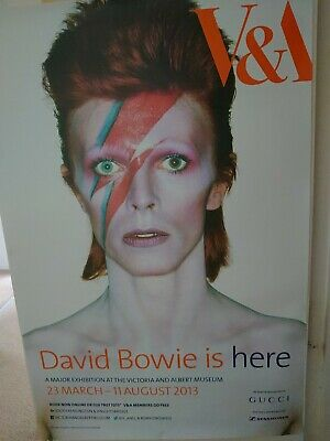 David Bowie Is Here – Rare Original London V&A Exhibition Poster, Ziggy Stardust • 85£