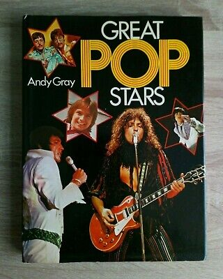 Great Pop Stars By Andy Gray Vintage Music Large Hamlyn Hardback Book (1973) • 14£