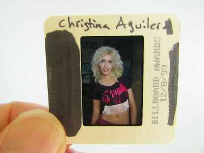 Original Press Photo Slide Negative - Christina Aguilera - 1999 - J • 21.99£