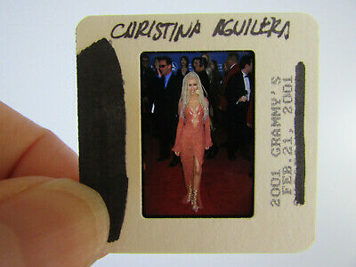 Original Press Photo Slide Negative - Christina Aguilera - 2001 - P • 21.99£