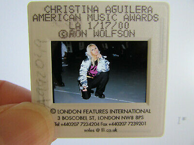 Original Press Photo Slide Negative - Christina Aguilera - 2000 - V • 21.99£